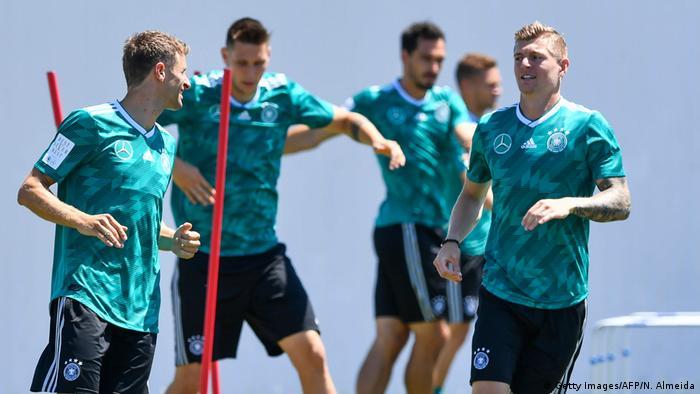 Russland WM 2018 | Deutschlands Training (Getty Images/AFP/N. Almeida)