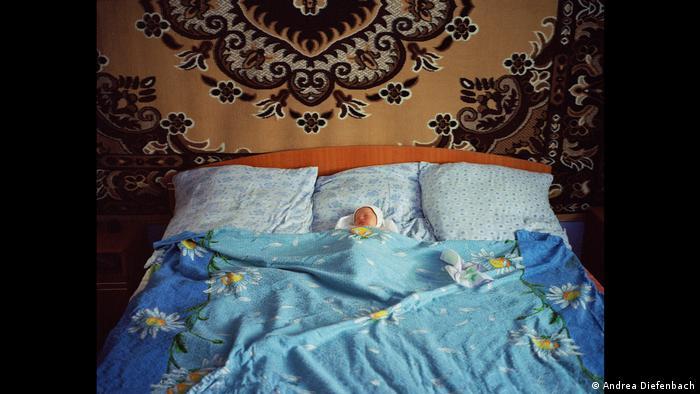 Андреа Дифенбах, фотография Младенец