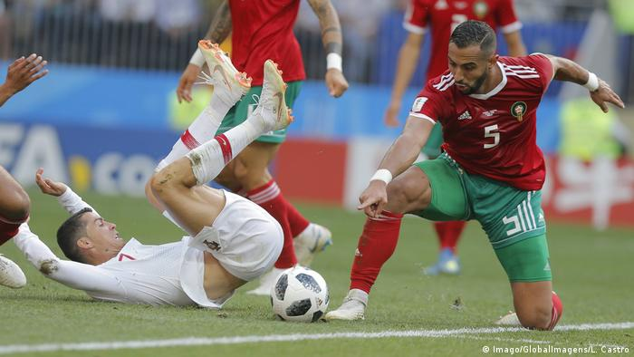 Russland WM 2018 | Portugal vs Marokko 1:0 - Foul an Ronaldo (Imago/GlobalImagens/L. Castro)