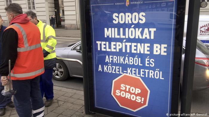 Campanie împotriva miliardarului Soros la Budapesta