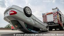 A real car crash on the autobahn