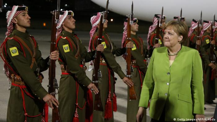 Jordanien | Angele Merkel zu Besuch in Amman (Getty Images/AFP/A. Abdo)