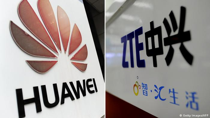 Bildkombo Huawei und ZTE (Getty Images/AFP)