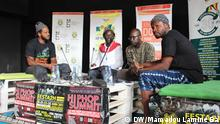 "The members of the rap group who performed "" 7 minutes contre le FCFA ""(DW/Mamadou Lamine Ba)"