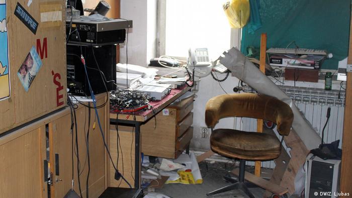 Ostaci opreme u RTV Visoko
