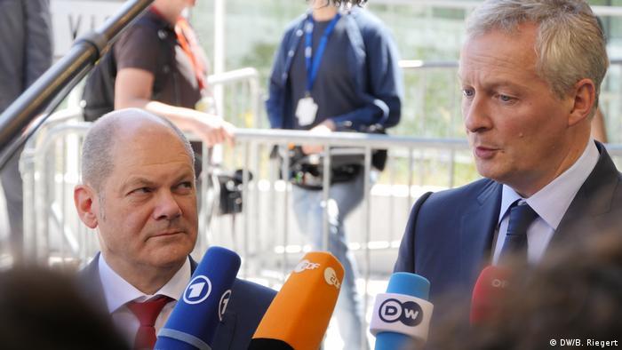 Luxemburg EU Finanzministertreffen - Scholz und Le Maire über das Hilfsprogramm für Griechenland (DW/B. Riegert)