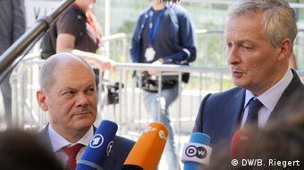 Luxemburg EU Finanzministertreffen - Scholz und Le Maire über das Hilfsprogramm für Griechenland