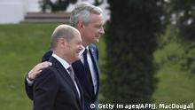 Deutschland Frankreich - Le Maire und Scholz auf Meseberg