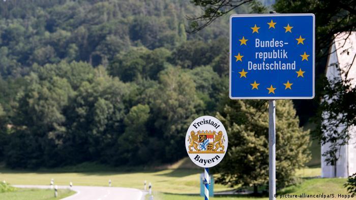 Grenze zwischen Österreich und Deutschland