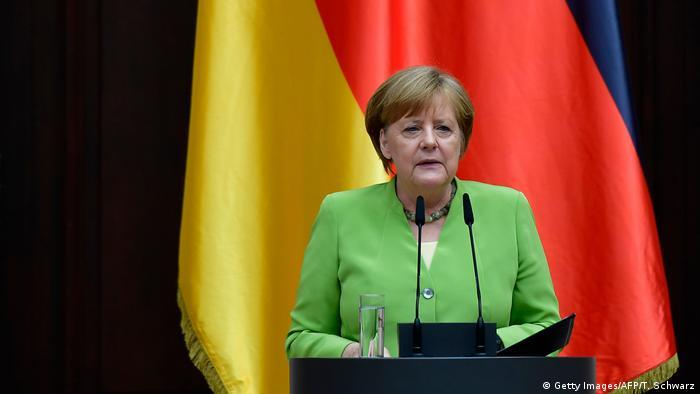 Deutschland Bundeskanzlerin beim Weltflüchtlingstag (Getty Images/AFP/T. Schwarz)