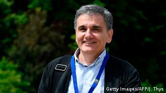 Luxemburg EU Finanzministertreffen - Griechischer Finanzminister Tsakalotos