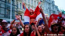 June 21, 2018*** Soccer Football - World Cup - Group D - Argentina vs Croatia - Zagreb - Croatia - June 21, 2018 - Croatia's fans react during the match. REUTERS/Antonio Bronic