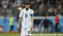 Argentina v Croatia - FIFA World Cup 2018 - Group D - Nizhny Novgorod Stadium. Lionel Messi of Argentina dejected following Croatia's second goal during the FIFA World Cup 2018 Group D match at the Nizhny Novgorod Stadium, Nizhny Novgorod. Picture date 21st June 2018. Picture credit should read: David Klein/Sportimage via PA Images URN:37131286  