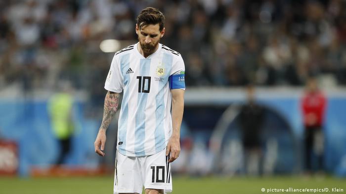 Fußball WM 2018 Gruppe D Argentinien - Kroatien Lionel Messi (picture-alliance/empics/D. Klein)