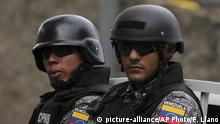 Venezuela Polizisten Symbolbild