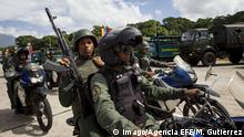 Venezuela Soldaten in Caracas Symbolbild
