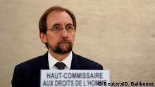 Schweiz Seid Ra'ad al-Hussein UN Kommisar für Menschenrechte in Genf