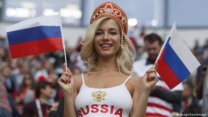 WM 2018 Fans Russian fan ahead of the FIFA World Cup WM Weltmeisterschaft Fussball 2018 Group A mat