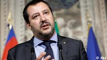 ARCHIV - 14.05.2018, Italien, Rom: Matteo Salvini, Vorsitzender der Lega-Partei, spricht nach einem Treffen mit Italiens Präsident Mattarella zu Journalisten. (zu dpa Italiens Innenminister Salvini will Sinti und Roma zählen lassen vom 28.06.2018) Foto: Riccardo Antimiani/ANSA/AP/dpa +++ dpa-Bildfunk +++
