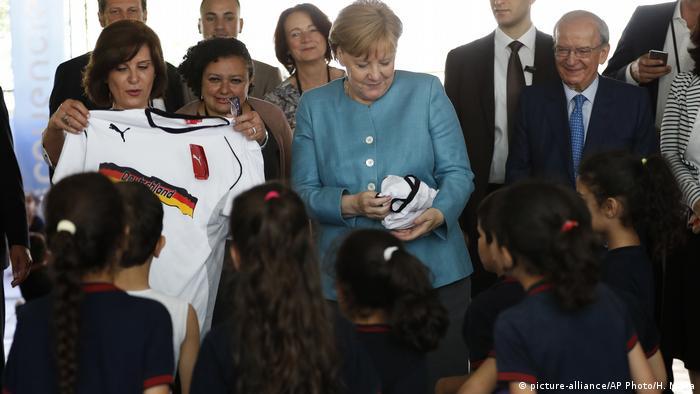 German Chancellor Angela Merkel in Lebanon