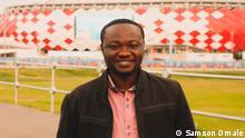 Reporter Samson Omale