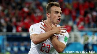 Russland WM 2018 l Serbien vs Schweiz – 1:2 Tor Xherdan Shaqiri (Getty Images/C. Rose)