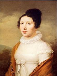 Elisabeth Röckel Porträt von Möller um 1814