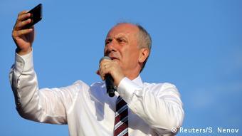 Türkei Wahlkampf Muharrem Ince, Republikanische Volkspartei in Ankara (Reuters/S. Nenov)