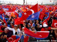 Прихильники Ердогана під час мітингу