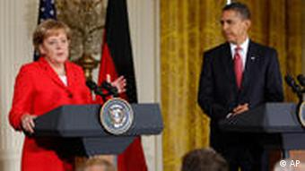 Barack Obama und Angela Merkel in Washington