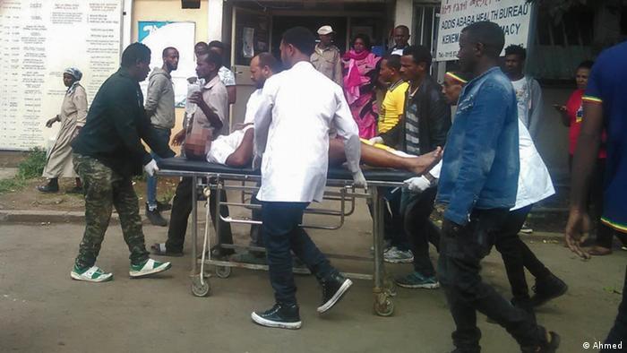 Äthiopien Addis Abeba Verletzte nach Bombenexplosion (Ahmed)