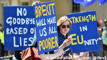 Großbritannien London Demonstration gegen Brexit (picture-alliance/empics/J. Stillwell)