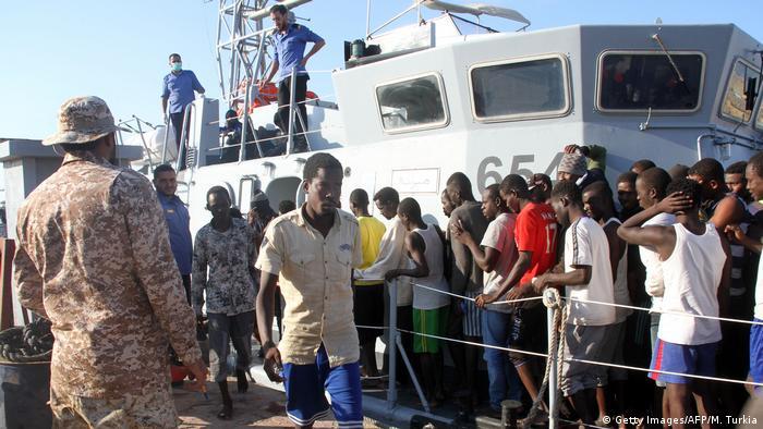 Libyen Tripolis illegale Migranten