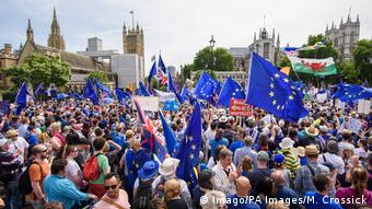 Από συγκέντρωση διαμαρτυρίας αντιπάλων του Brexit