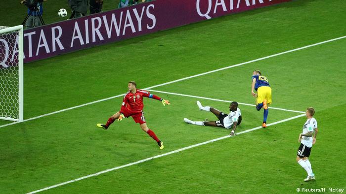 ЧС-2018 з футболу в Росії. Епізод матчу Німеччина - Швеція.