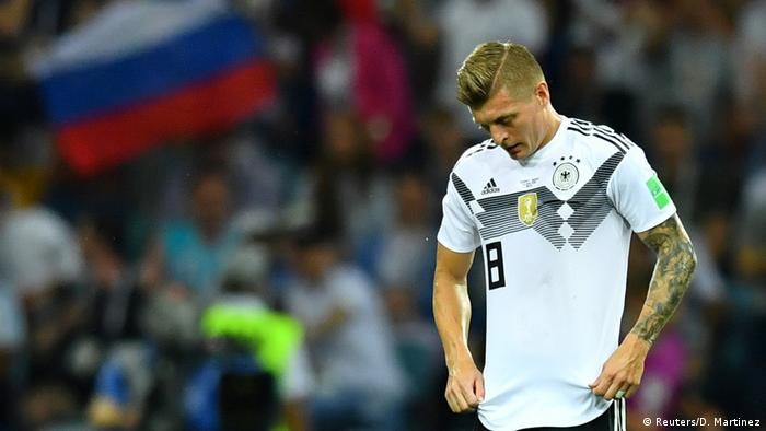 Toni Kroos looks dejected after Sweden scored their first goal (Reuters/D. Martinez)