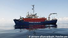21.6.2018*** In this photo taken on Thursday, June 21, 2018, a view of the ship operated by the German NGO Mission Lifeline. Italy's interior minister says Malta should allow a Dutch-flagged rescue ship carrying 224 migrants to make port there because the ship is now in Maltese waters. Salvini said the rescue was in Libyan waters, which Lifeline denies. (Hermine Poschmann/Mission Lifeline via AP) |