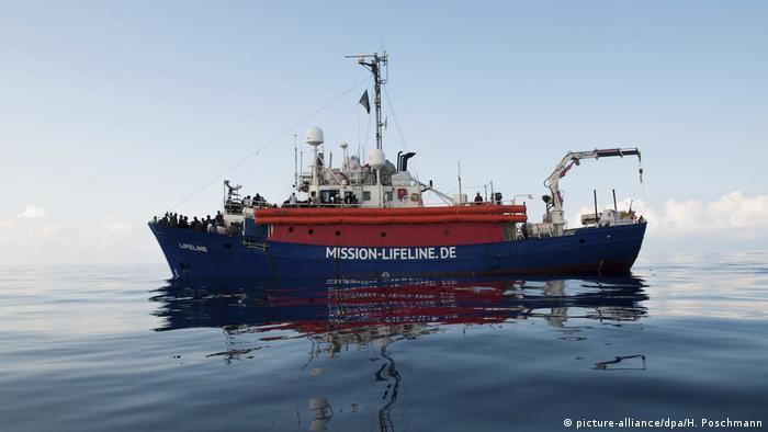 Mission Lifeline migrant rescue boat