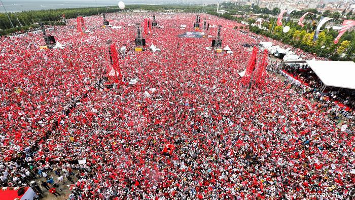 Оппозиционная демонстрация в Стамбуле, 23 июня