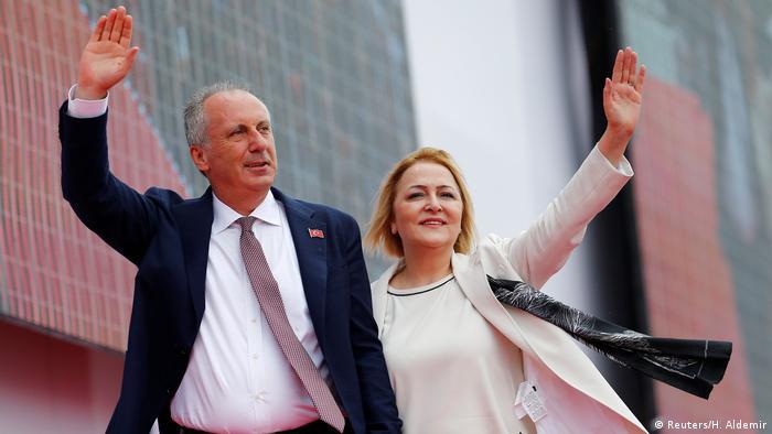 Türkei Wahlkampf Muharrem Ince, Republikanische Volkspartei in Istanbul | mit Ehefrau Ulku