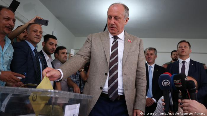 Türkei Präsidentschafts- und Parlamentswahl 2018 | Muharrem Ince, CHP (picture-alliance/Anadolu Agency/A. Atmaca)