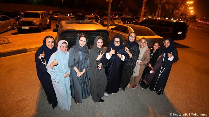 Saudi-Arabien 1. Tag Fahrerlaubnis für Frauen