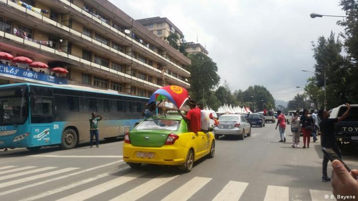 Äthiopien Addis Abeba - Rally für Premierminister Abiy Ahmed (B. Beyene)