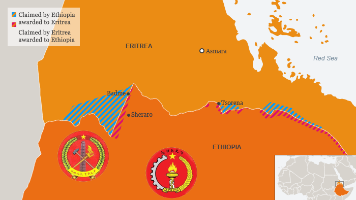 An infographic to illustrate the border conflict between Eritrea and Ethiopia / Äthiopien EN