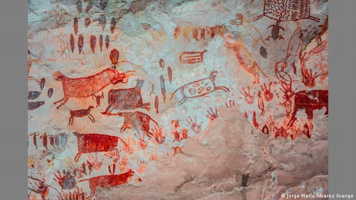 Rock painting in Chiribiquete National Park Kolumbien (Jorge Mario Álvarez Arango)