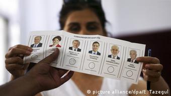 Cumhurbaşkanlığı seçimi oy pusulası