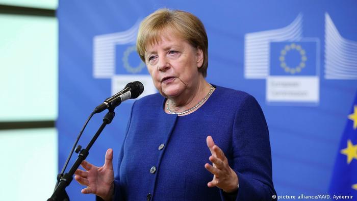 Merkel beim EU-Mini-Gipfel in Brüssel (picture alliance/AA/D. Aydemir )