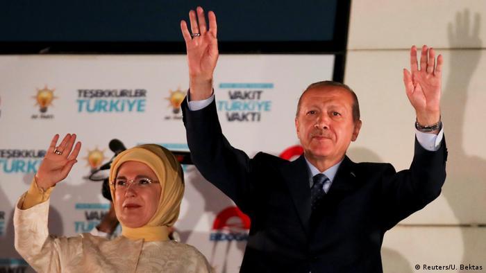 Эрдоган объявляет о своей победе на выборах, 25 июня 2018 г.