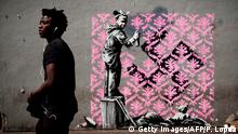 Possible Banksy street art in Paris (Getty Images/AFP/P. Lopez)