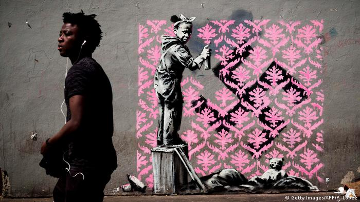 Frankreich Streetart Banksy (Getty Images/AFP/P. Lopez)